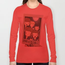 One Direction Story of My Life Cartoon Long Sleeve T-shirt
