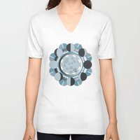 moon phases V-neck T-shirts featuring Moon Phases by TypicalArtGuy