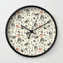 Grunge Pattern by Javi Codina Wall Clock