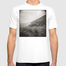{ the earth we walk on } MEDIUM White Mens Fitted Tee