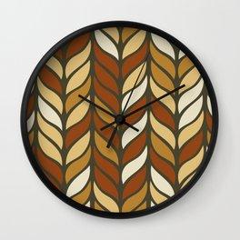 Boho Chic Retro Weave Wall Clock