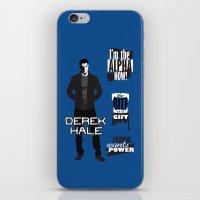 derek hale iPhone & iPod Skins featuring Derek Hale Quotes Teen Wolf by Alice Wieckowska