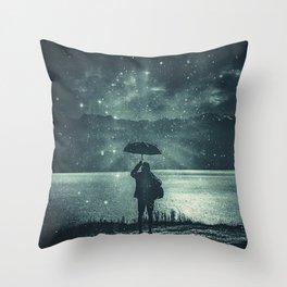 Sideral Rain Throw Pillow