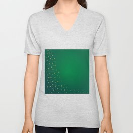 Green And Gold Background Unisex V-Neck