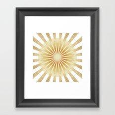 Golden Rays Mandala Framed Art Print