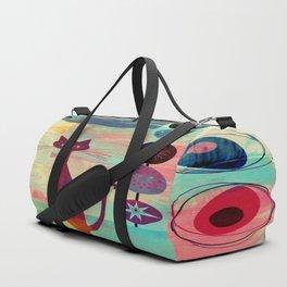 Mid-Century Modern 2 Cats - Graffiti Style Duffle Bag