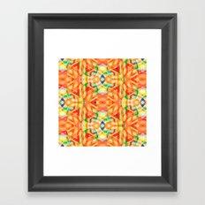 orange heat Framed Art Print