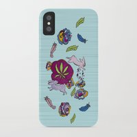 cannabis iPhone & iPod Cases featuring Cannabis Bunnies by Ri 13