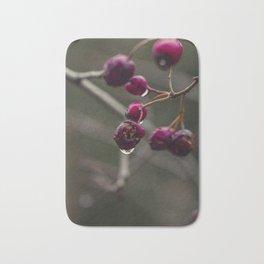 Closeup of red berries Bath Mat
