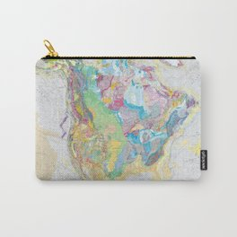 USGS Geological Map Of North America Carry-All Pouch