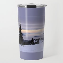 Mountain Sunset Travel Mug