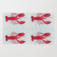 lobster Area & Throw Rugs featuring Coastal Lobster by Ann Marie Coolick