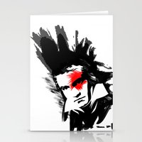 beethoven Stationery Cards featuring Beethoven Punk by viva la revolucion