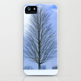 Under a blue sky iPhone Case