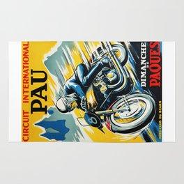 Grand Prix Pau, vintage poster, Motorcycle poster, race poster, Motorcycle poster Rug