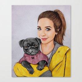 Zoe & Nala Canvas Print