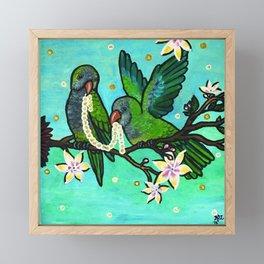 Pair of Parrots Framed Mini Art Print
