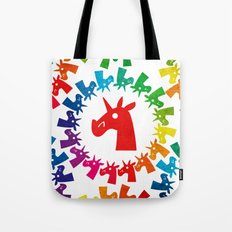 Color Me Rainbow Unicorn Tote Bag