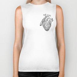 Anatomical Heart Ink Illustration Biker Tank