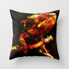perfect chameleon Throw Pillow