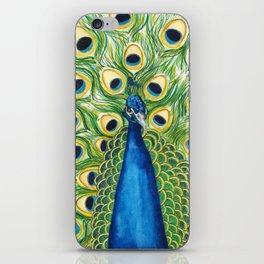 Majestic peacock iPhone Skin