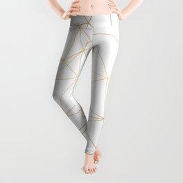 Geometric Gold Minimalist Design Leggings