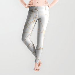 Geometric Gold Minimalist Design Leggings