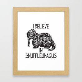 I Believe In Snuffleupagus Framed Art Print
