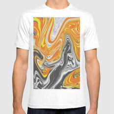 noisi Waves White Mens Fitted Tee MEDIUM