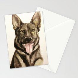German Shepherd Custom Pet Portrait Stationery Cards