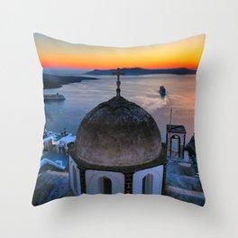 Santorini 21 Throw Pillow