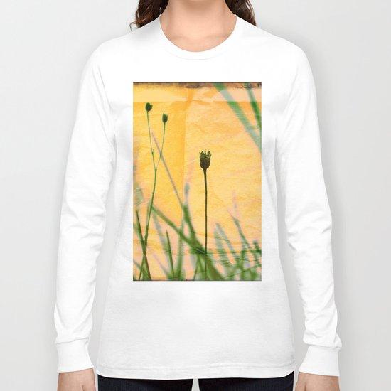 Polaroid photo yellow flower Long Sleeve T-shirt