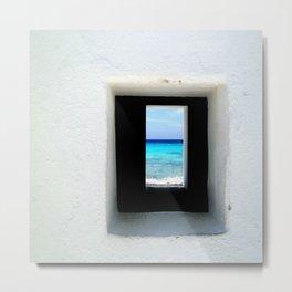 Portal to the Ocean, Bonaire  Metal Print