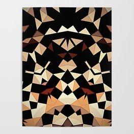Patchwork Half Mandala Neutral Tones Poster