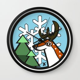 The Deer Wall Clock