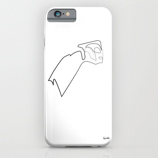 One line Rocketeer iPhone & iPod Case