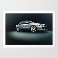 subaru Art Prints featuring Subaru WRX by Jacob Brcic