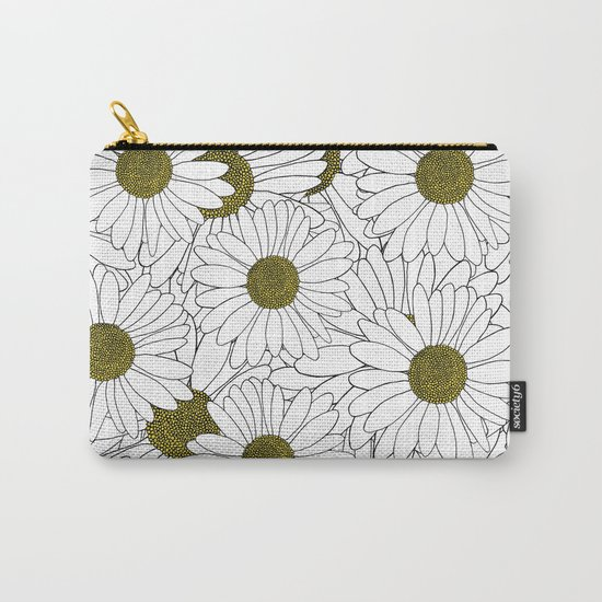 Daisy Yellow Carry-All Pouch