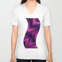 3d V-neck T-shirts featuring 3D by DagmarMarina
