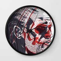 sons of anarchy Wall Clocks featuring Duality - Sons of Anarchy by Steve Treadwell