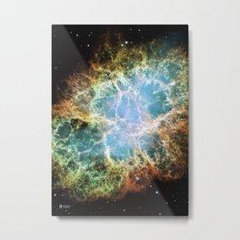Hubble Telescope: Crab Nebula Metal Print