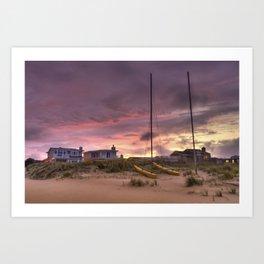 Sunset after Hurricane Florence Art Print