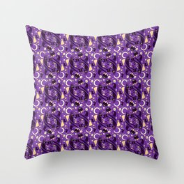 witch pattern Throw Pillow