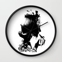 soldier Wall Clocks featuring WOMAN SOLDIER by kravic