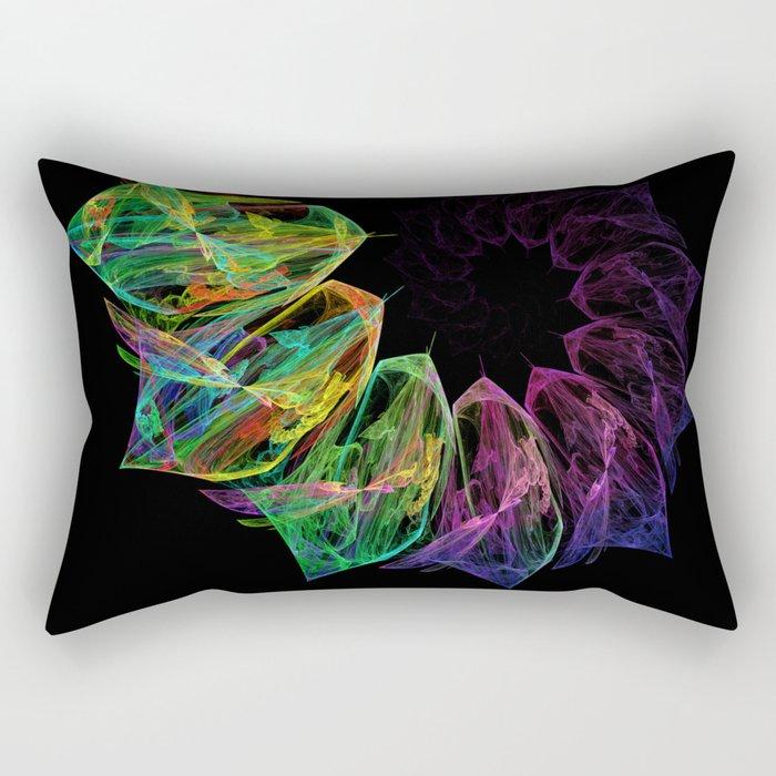 Fractal petals Rectangular Pillow