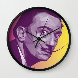 Salvador Dali Low Poly Collection Wall Clock