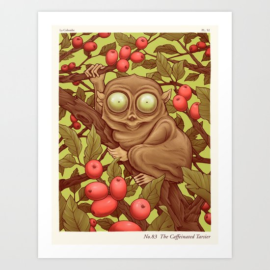 The Caffeinated Tarsier Art Print