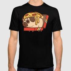 Puglie Pizza MEDIUM Mens Fitted Tee Black