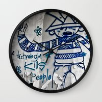 technology Wall Clocks featuring Cylon Technology by MistyAnn @ What the F-stop Prints