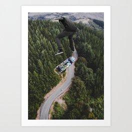 Jump higher Art Print